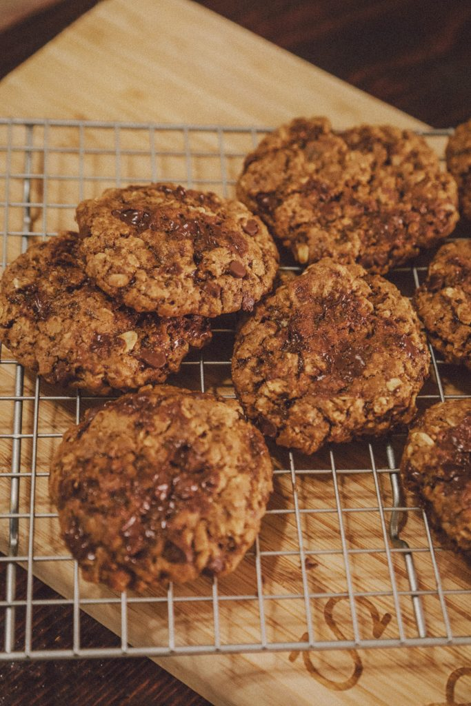 Gluten and dairy free Chocolate Chip Oatmeal cookies