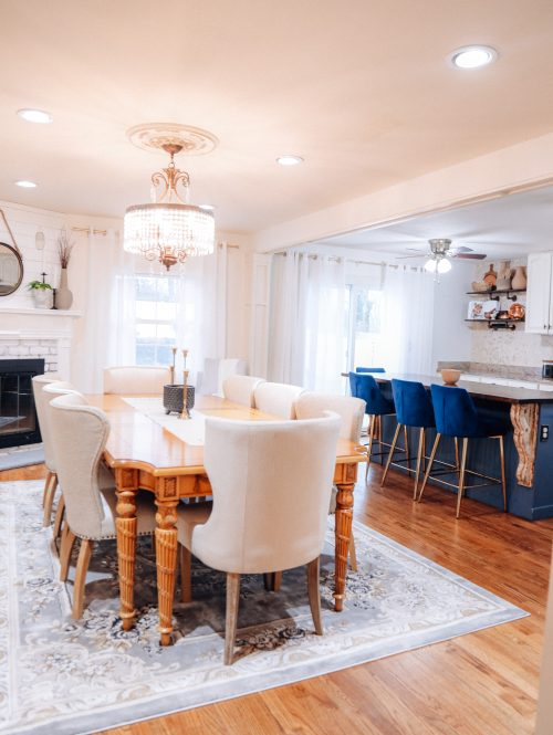 Kitchen dining room combination. Home renovation