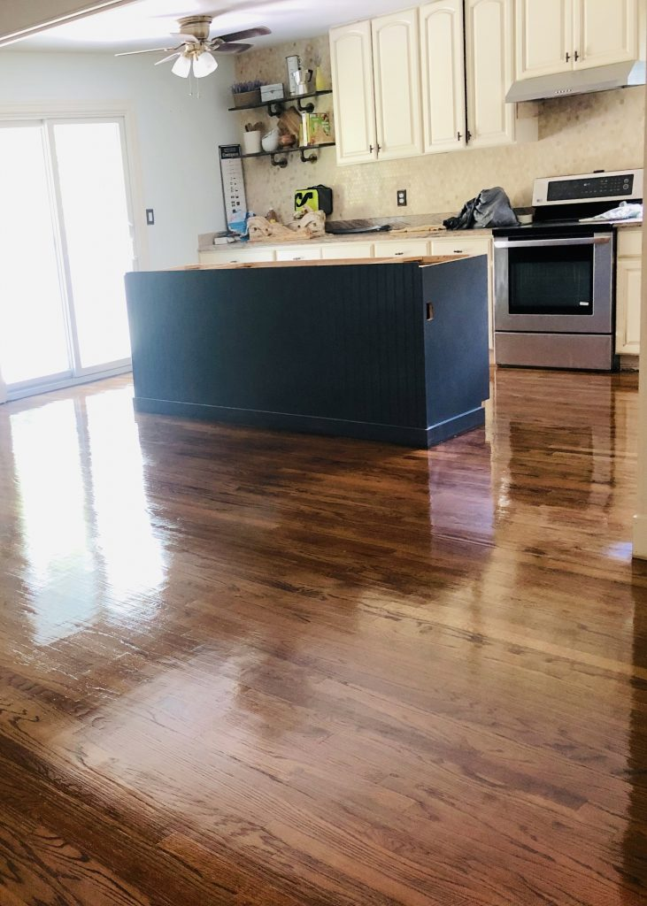 sanded and stained hardwood floors