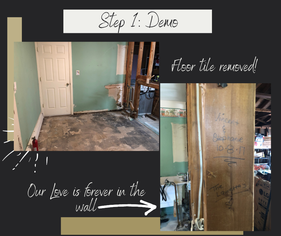 we took walls down during this reno.